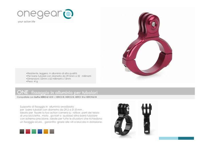 Gopro accessori fissaggio tubolari in alluminio colorato