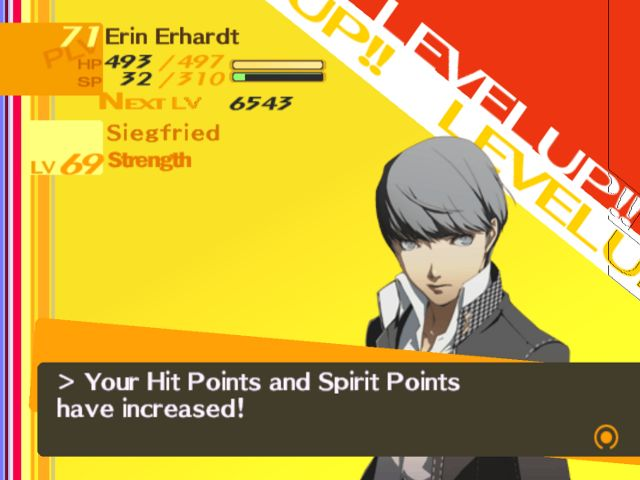 Persona 4 After Battle/Level Up