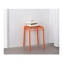 IKEA - VÄSTERÖN, Hocker drinnen/draußen, , Stapelbar; spart Platz, wenn nicht in Gebrauch.Auch für Badezimmer und andere Feuchträume im Haus geeignet.Robust und pflegeleicht durch Oberfläche aus pulverlackiertem Stahl und Kunststoff.Sommermöbel aus pflegeleichtem Material.