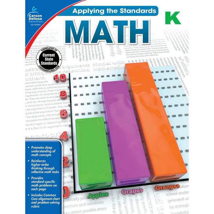 Applying the Standards: Math for kindergarten offers 64 pages of targeted math practice. It is aligned with the Common Core State Standards and includes a problem-solving rubric, a standards alignment