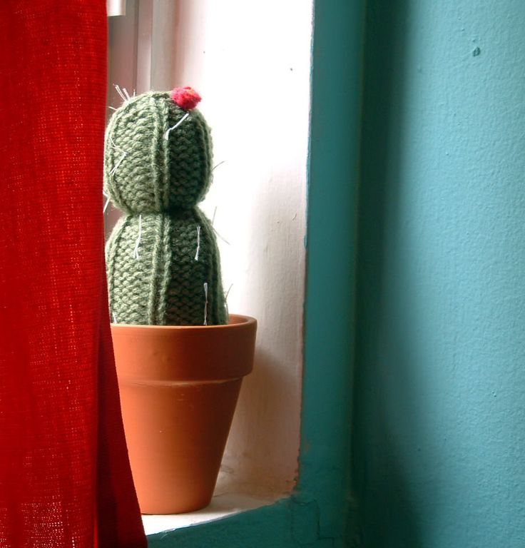 Knit a cactus! I love it, I'm going to have to try this