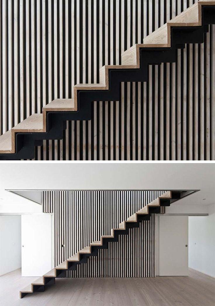 les 25 meilleures id es de la cat gorie escalier droit sur pinterest garde corps en bois. Black Bedroom Furniture Sets. Home Design Ideas
