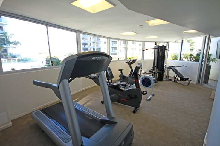 Fully equipped modern gymnasium at Oceans Mooloolaba.
