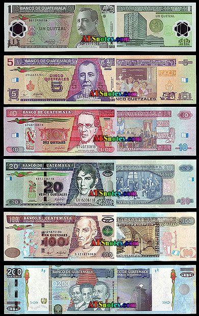 Guatemala banknotes - Guatemala paper money catalog and Guatemalan currency history