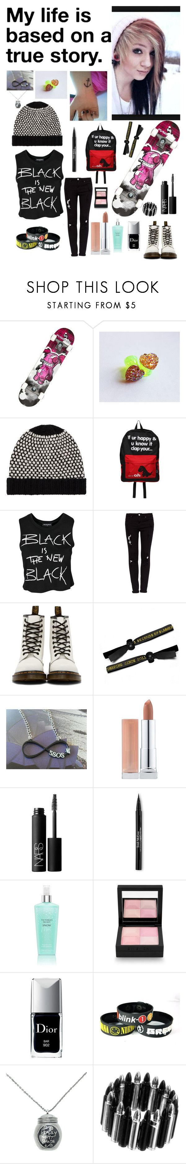 """""Day out with the band and bitches"" - Summer"" by nationalnerd ❤ liked on Polyvore featuring Punisher, John Lewis, Goodie Two Sleeves, Sally&Circle, Pull&Bear, Dr. Martens, Maybelline, NARS Cosmetics, Trish McEvoy and Victoria's Secret"