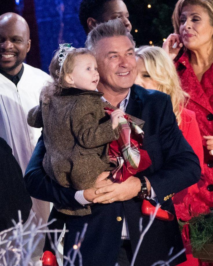 Alec Baldwin's Daughter at NYC Christmas Tree Lighting 2016 | POPSUGAR Celebrity