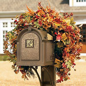 Autumn Swag | Frontgate – Outdoor Decor – Garden Decor – Outdoor Lighting