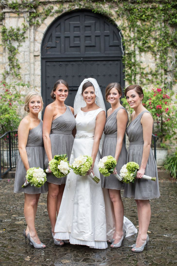 242 best wedding gray images on pinterest wedding stuff white short silver one shoulder bridesmaid dresses j crew carly arnwine photography ombrellifo Choice Image