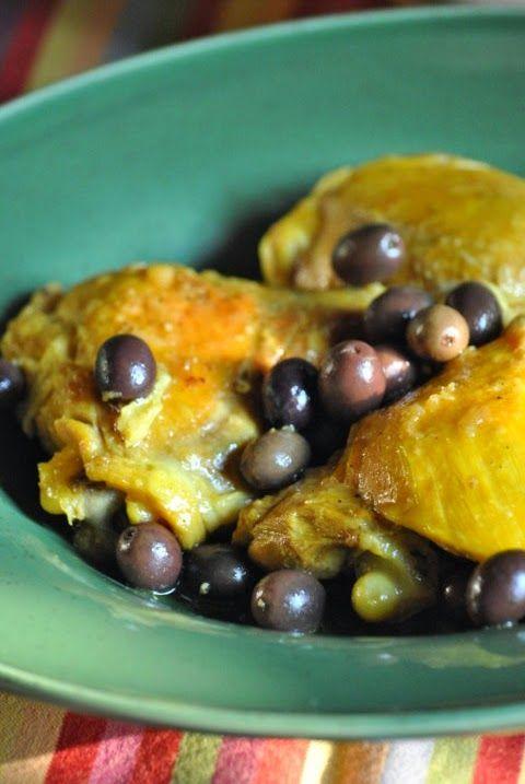 Tajine di pollo con zenzero, zafferano e olive nere