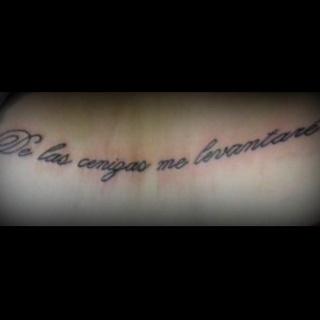 De Las Cenzias Me Levantare - From the ashes I will rise