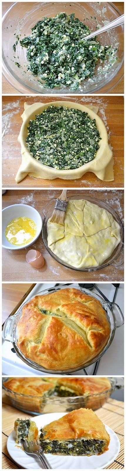 Spinach Pie http://www.budgetbytes.com/2012/09/spinach-pie/                                                                                                                                                      Más