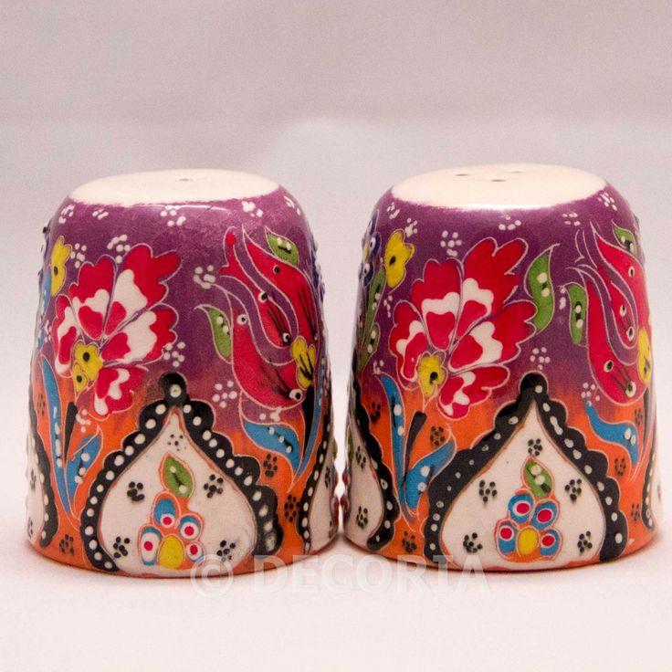Salt Pepper Shaker - Purple & Orange - DECORIA HOME & GIFT