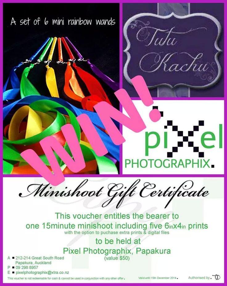 Enter to win: mini photo shoot and set 6 Rainbow mini wands | http://www.dango.co.nz/s.php?u=w7zQBVDk2380