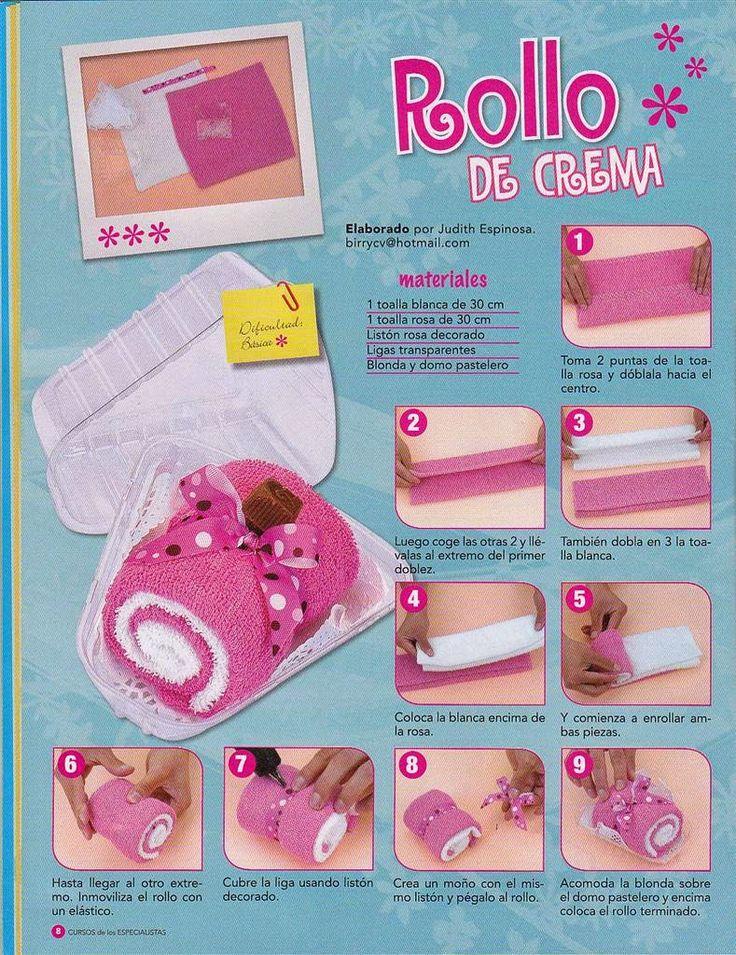 Revistas de manualidades Gratis: Como hacer figuras con toallas