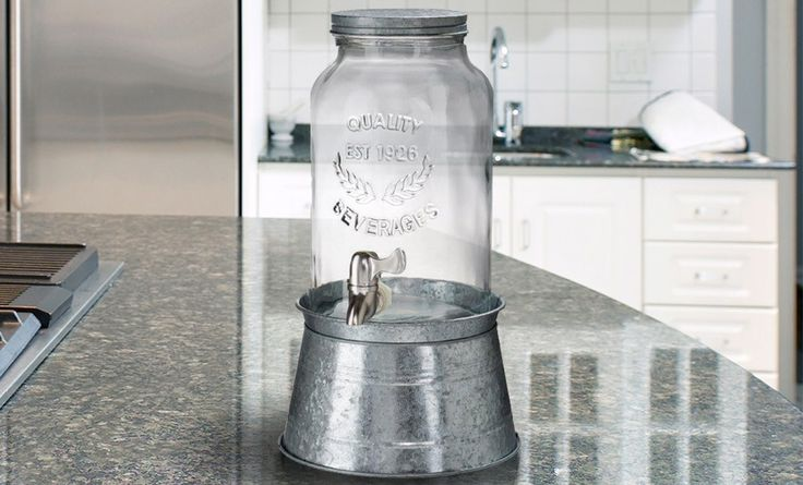@Jessica Anderson   .. HOW CUTE IS THIS!!   Groupon - $ 34.99 for an Artland Oasis 1.5-Gallon Mason-Jar-Style Beverage Dispenser ($ 74 List Price). Free Shipping and Returns.. Groupon deal price: $34.99