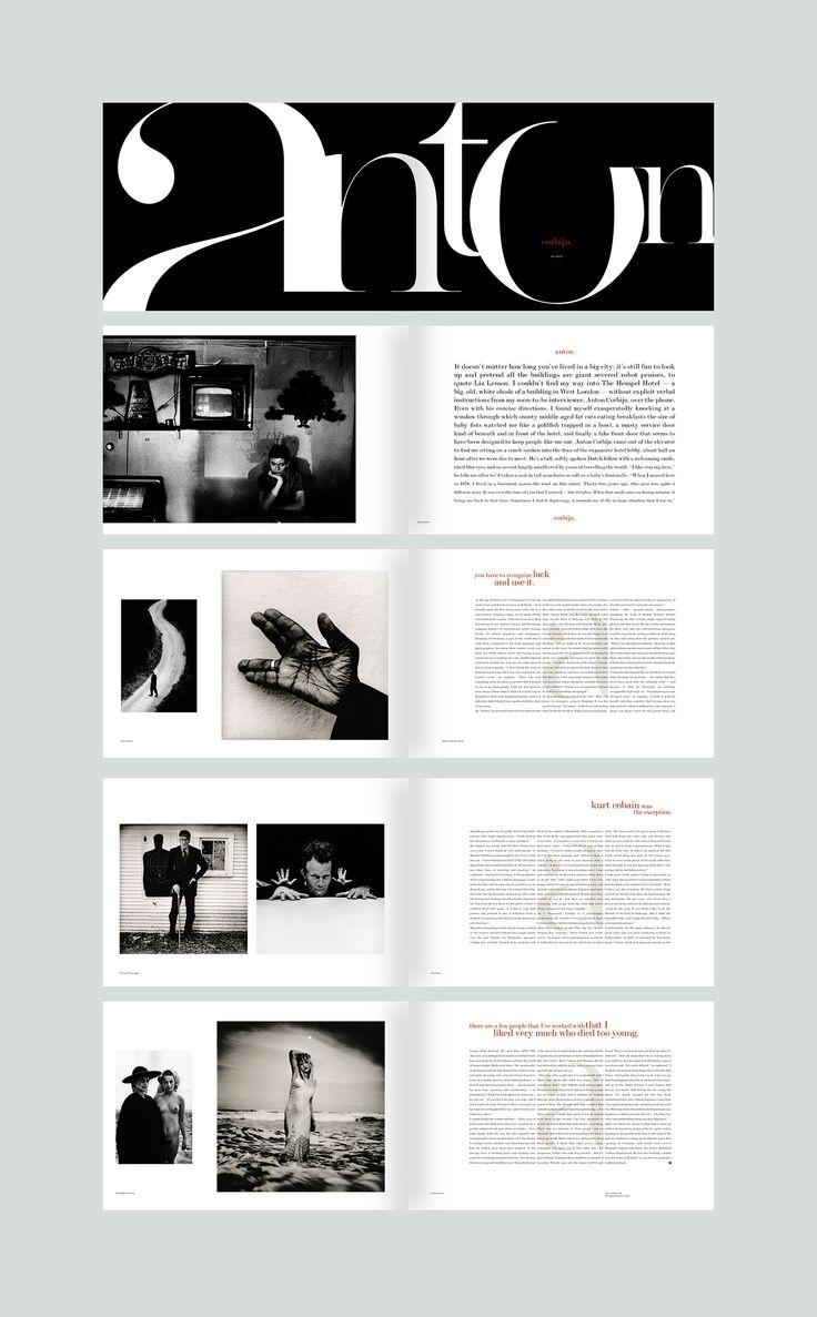 Anton Corbijn feature. #editorialdesign #layout #typography #monsterchildren #printdesign