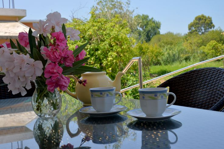 Let's have a tea at Santos Luxury Apartments in Corfu!
