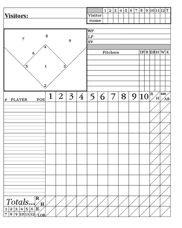 T Ball Field Diagram Printable Honeywell Wifi Thermostat Kit Baseball Score Sheets   Here Is My System: Words To Live By Scores ...