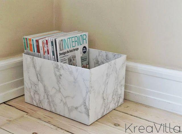 """Marble"" magazine organizer DIY | KreaVilla"