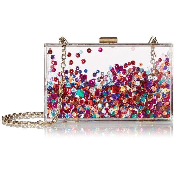 Aldo Graelian Clutch ($50) ❤ liked on Polyvore featuring bags, handbags, clutches, aldo purses, white purse, sequin handbags, aldo handbags and clear clutches