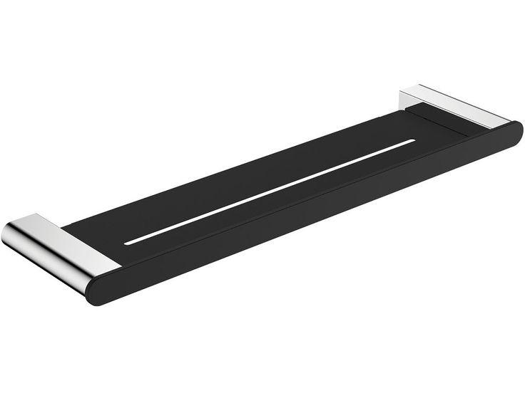 Lincoln matte black chrome accessories fienza - Black and chrome bathroom accessories ...