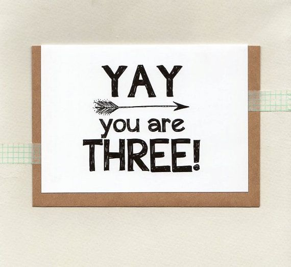 YAY you are THREE or choose another age . kids by ThePaisleyFive