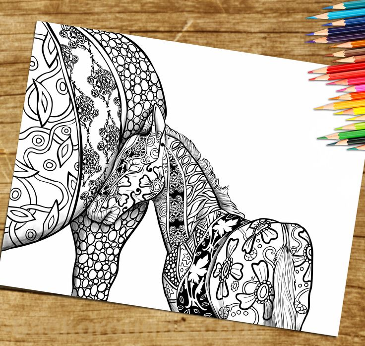 1000 ideas about Horse Coloring