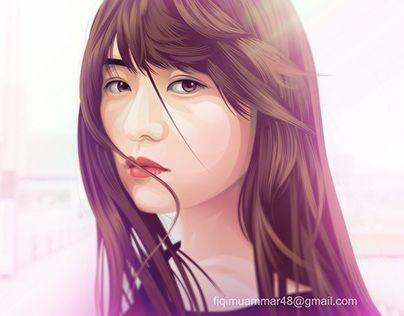 """fan art ito marika nogizaka 46 vector vexel cartoon version"" http://be.net/gallery/42261769/fan-art-ito-marika-nogizaka-46-cartoon-version"