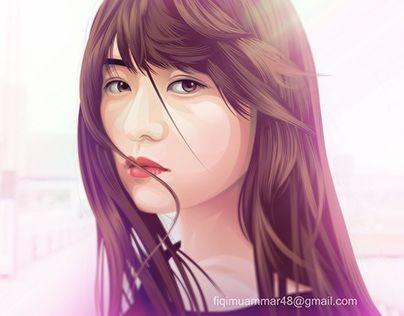 """fan art ito marika nogizaka 46 vector vexel cartoon version"" http://be.net/gallery/42261769/fan-art-ito-marika-nogizaka-46-cartoon-version"