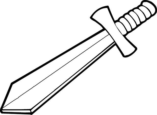 trojan sword clipart outline - 640×470