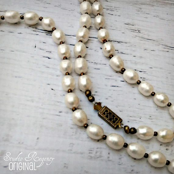 95dccf665cba9 The Scottish Pearls - Long Pearl Necklace - Freshwater Pearl ...