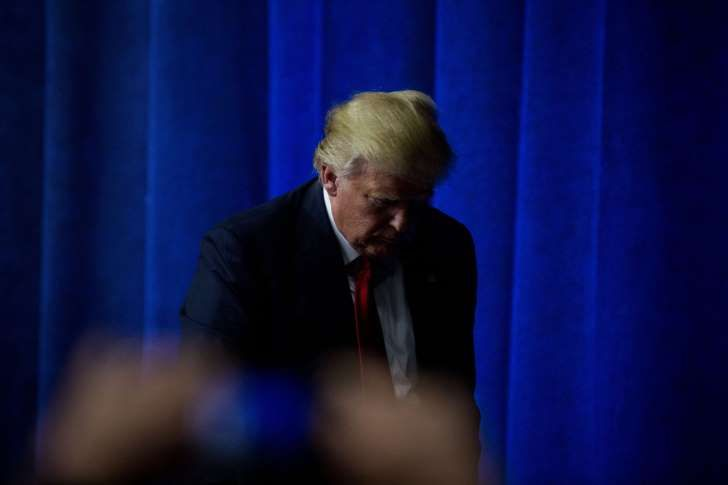 Donald J. Trump, after a rally in Bethpage, N.Y., on Wednesday. He has defied Washington consensus to help attract supporters.