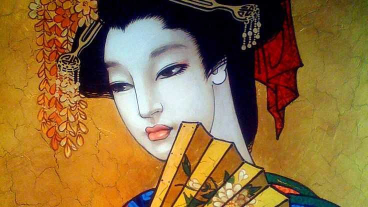 Matsuri 1. The mural in the restaurant of Asian cuisine. Acrylic paint.