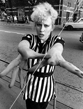 Hazel O'Connor in black and white