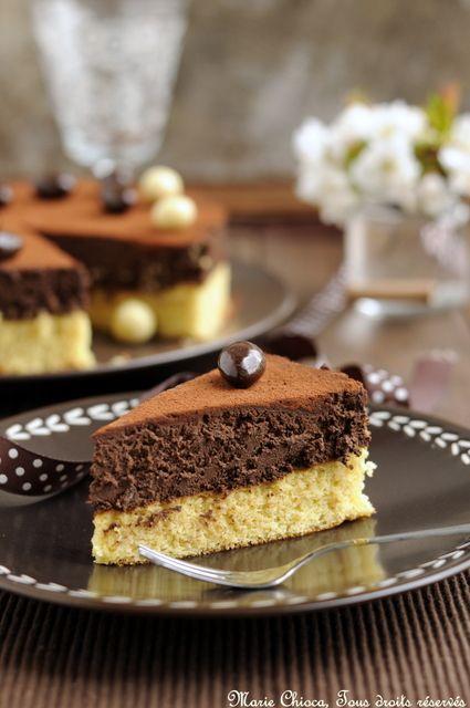 Gâteau très léger au chocolat noir    Et 2 fèves précieuses    (Recette saine, à IG bas, sans lait et sans gluten)