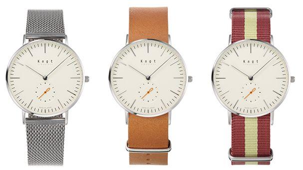 Knotのスタイリッシュなベルト 革ベルトの腕時計 ブランド
