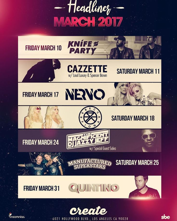 Enter #PromoCode RAVESAVE for 20% OFF #CreateNightclub tix  http://j.mp/CREATERL  #KnifeParty @knifepartyinc  #Cazzette @cazzette  #Nervo @nervomusic  #RebeccaAndFiona @rebeccafiona  #DJJazztJeff @djjazzyjeff  #ManufacturedSuperstars @manufactured_superstars  #Quintino @quintino  #NoizeFridays #ArcadeSaturdays #Insomniac #InsomniacClubs #InsomniacEvents #SBE #RaveLoop #RaveLoopDotCom #RaveSave #RaveMeetup #HollywoodNightlife #HollywoodBlvd #SunsetBlvd #HouseMusic #ElectroHouse #BigRoomHouse…