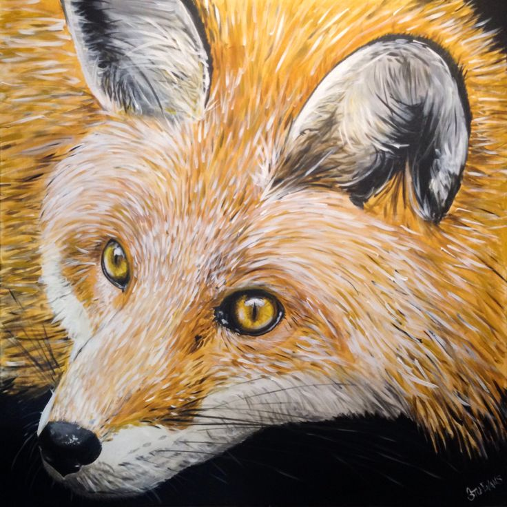 My latest painting. A cunning fox!