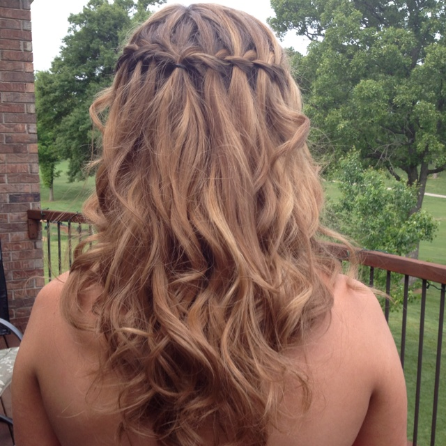 65 best waterfall braid so cute images on pinterest hair makeup waterfall braid prom ccuart Images