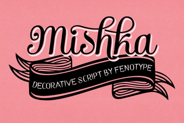 mishka typeface, from you work for them