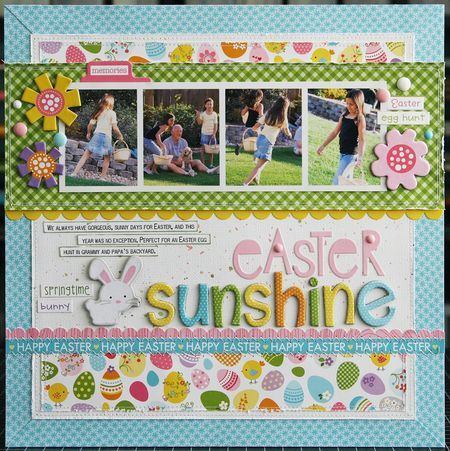 Easter Sunshine #layout by Laura Vegas #scrapbook