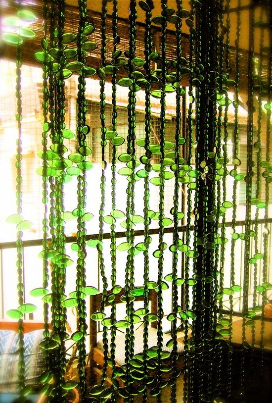green bead curtain with large beads and small beads & 38 best Bead Curtains images on Pinterest | Bead curtains Curtain ... pezcame.com