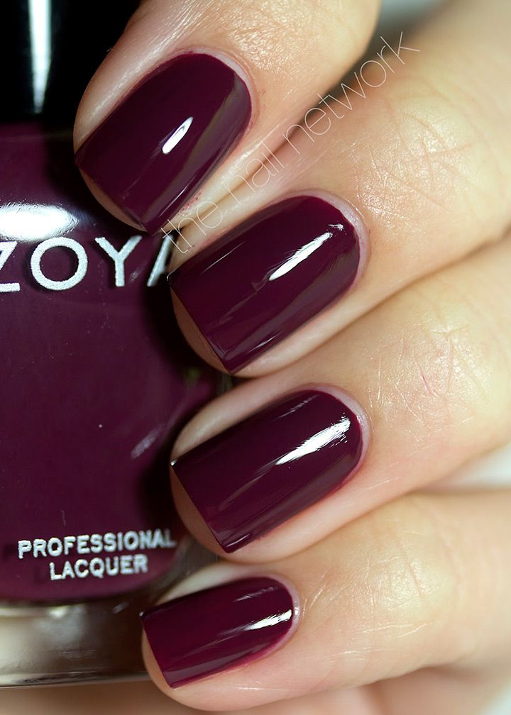 gorgeous deep burgundy nail color ~  we ❤ this! moncheribridals.com