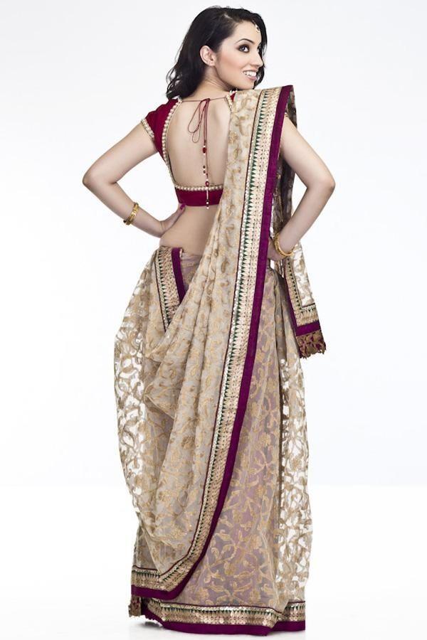 Gujarati Saree - back