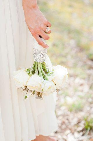 Jeweled Wrap: Emily Riggs, Jewels Bouquets, Satin Ribbons, Bride Bouquets, Bouquets Wraps, Swarovski Crystals, Jewels Wraps, Flowers Wraps, Riggs Bridal