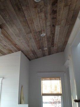 Reclaimed Barn Siding On Ceiling Via Our Town Plans
