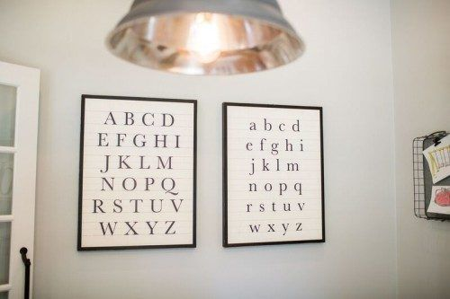 alphabet signs - Dansby House - Season 3 Fixer Upper - Magnolia Homes.net