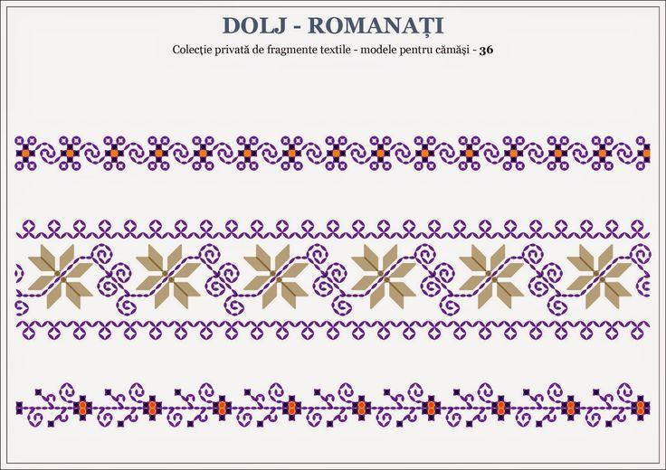 Semne Cusute: Romanian traditional motifs - OLTENIA, Dolj / Roma...