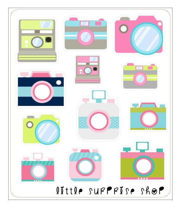 G024 Camera Stickers by LittleSurpriseShop on Etsy