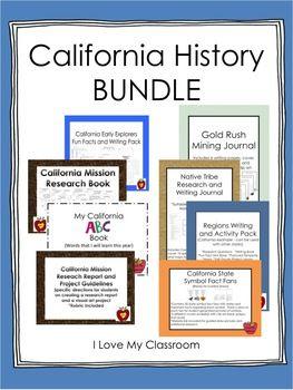 I Love My Classroom: California History Bundle (8 Products)